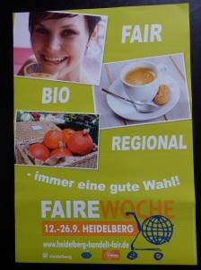 Plakat Faire Woche 2014