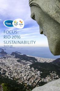 Sustainability Rio 2016