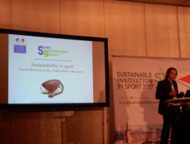Maël Besson Konferenz Sustainable Innovation in Sport 2017 Nachhaltiger Sport