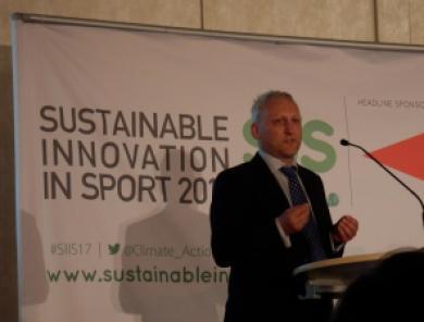 David Stubbs Konferenz Sustainable Innovation in Sport 2017 Nachhaltiger Sport