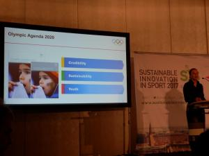 Michelle Lemaitre: Head of Sustainability des Internationalen Olympischen Komittees.