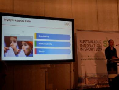 Michelle Lemaitre Konferenz Sustainable Innovation in Sport 2017 Nachhaltiger Sport